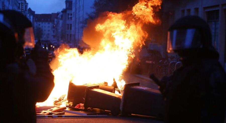 69 anholdt i Leipzig oven på demonstrationer.