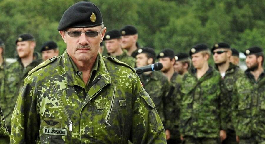ARKIVFOTO Generalmajor Poul Kiærskou, daværende chef for Hærens Operative Kommando