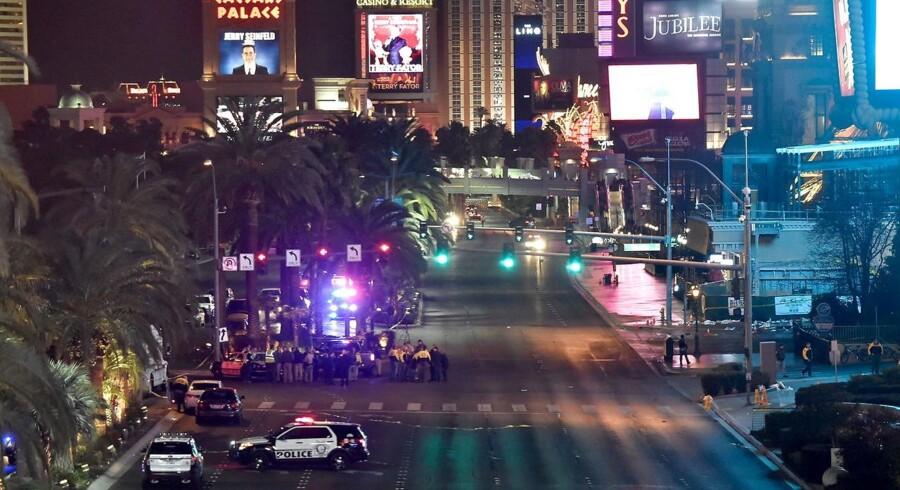 Ulykke på The Strip i Las Vegas.