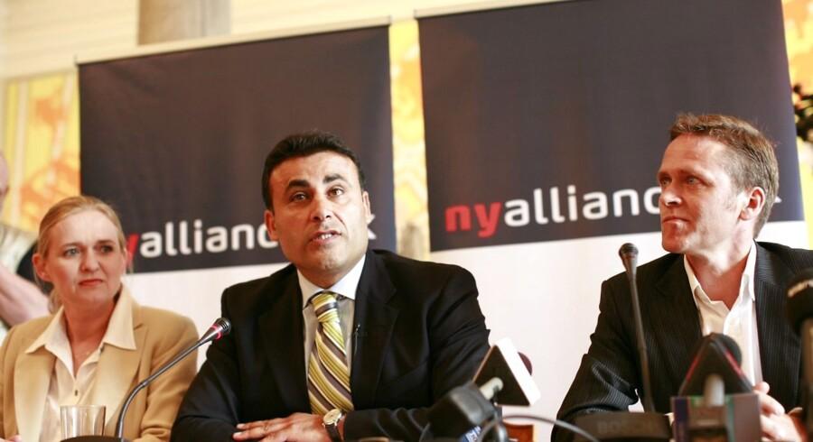 For fem år siden - den 7. maj 2007 - mødte pressen det nystiftede parti Ny Alliances ledelse bestående af (fra venstre) Gitte Seeberg, Naser Khader og Anders Samuelsen for første gang.