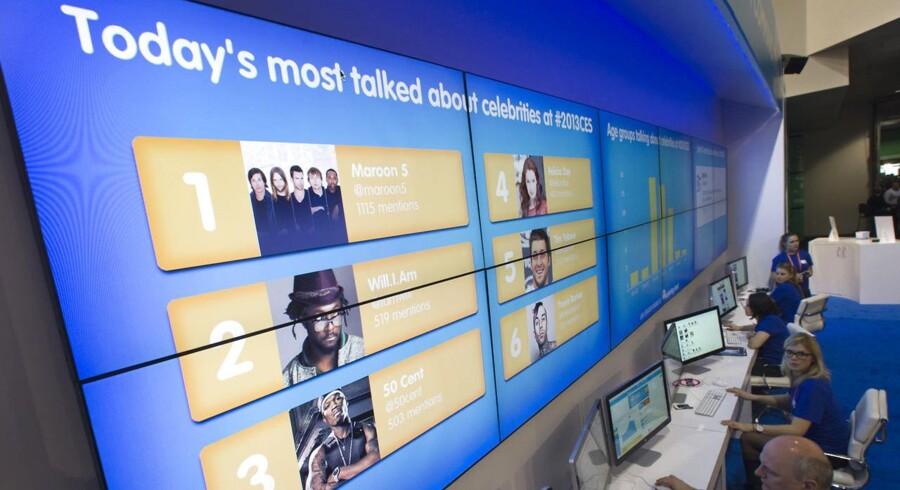 Salesforces stand til CES-messen i Las Vegas i januar. Arkivfoto: Steve Marcus / Scanpix
