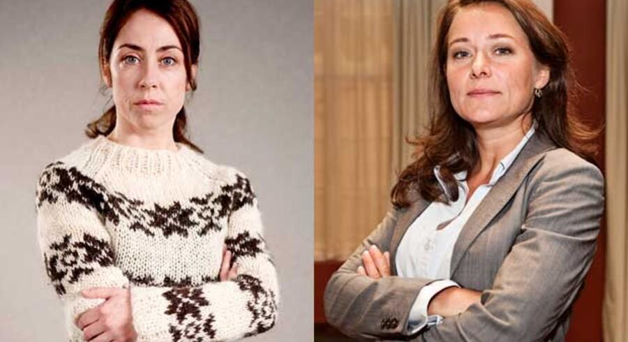 """""""Forbrydelsen"""" i skikkelse af Sofie Gråbøl vs """"Borgen"""" i skikkelse af Sidse Babett Knudsen"""