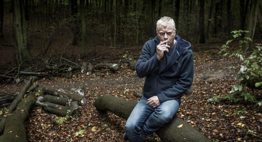 """Portræt af den danske krimiforfatter Steffen Jacobsen, der netop er aktuel med romanen """"Et bjerg af løgne""""."""
