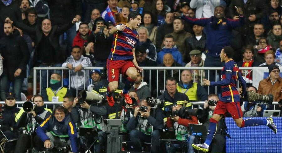 Barcelona vandt fortjent over Real Madrid takket være scoringer af Luis Suarez og Neymar.