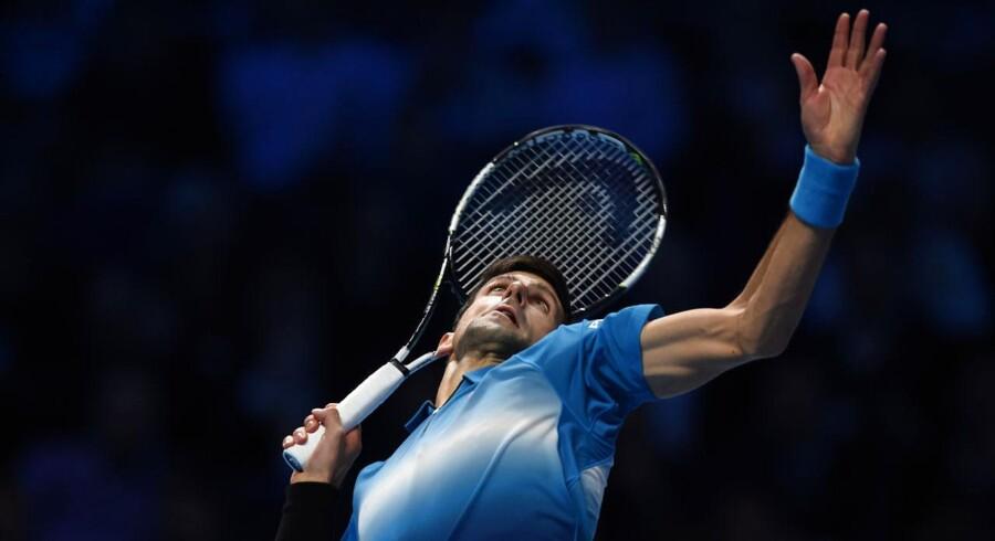 Novak Djokovic er klar til semifinalerne ved ATP Tour Finals.