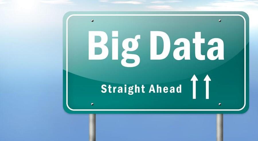 »Big data« ligger ikke ligefor i mange danske virksomheder, sådan som skiltet her antyder. Foto: Iris/Scanpix