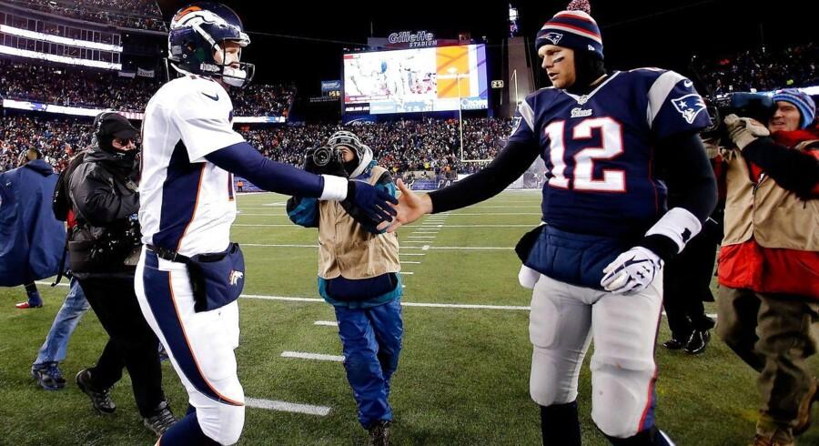 Peyton Manning kommer ikke til at starte i søndagens kamp mod New England Patriots og Tom Brady.