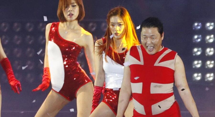 Den sydkoreanske rapper Psy, der hittede med Gangnam Style