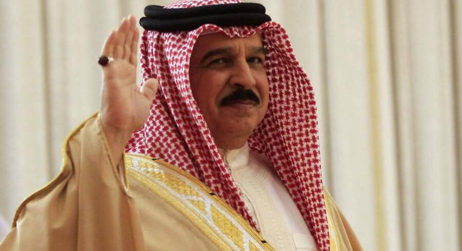 Bahrain's Kong Hamad bin Isa al-Khalifa er inviteret til banket hos Dronning Elisabeth i London.