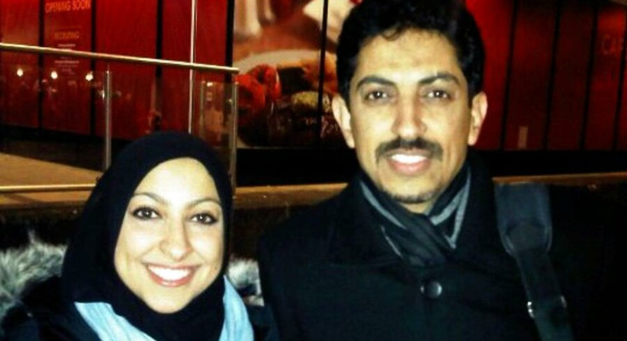 Arkivfoto af den fængslede og sultestrejkende danske statsborger Abdulhadi al-Khawaja med datteren Maryam al-Khawaja