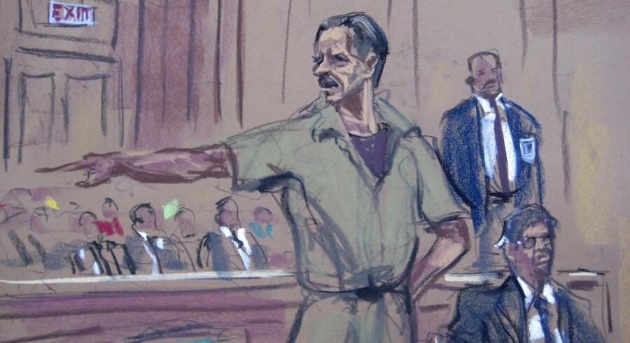 Illustration fra retssalen