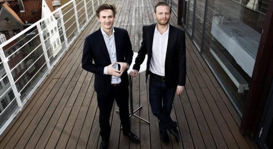 Mikkel Severin og Kristian Koch th, der på et arrangement under Lidtmere.dk senere i maj fortæller om kropssprog og præsentationsteknik
