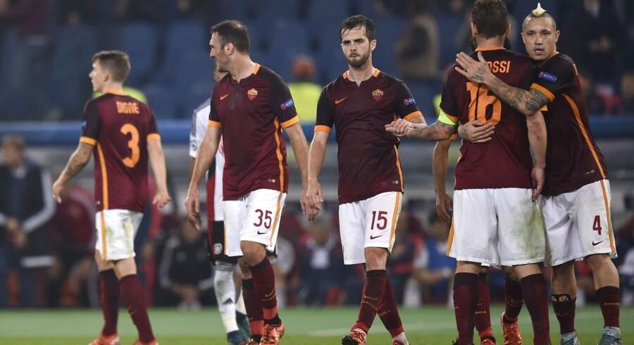 AS Roma vandt 3-2 i den vigtige kamp mod Bayer Leverkusen.