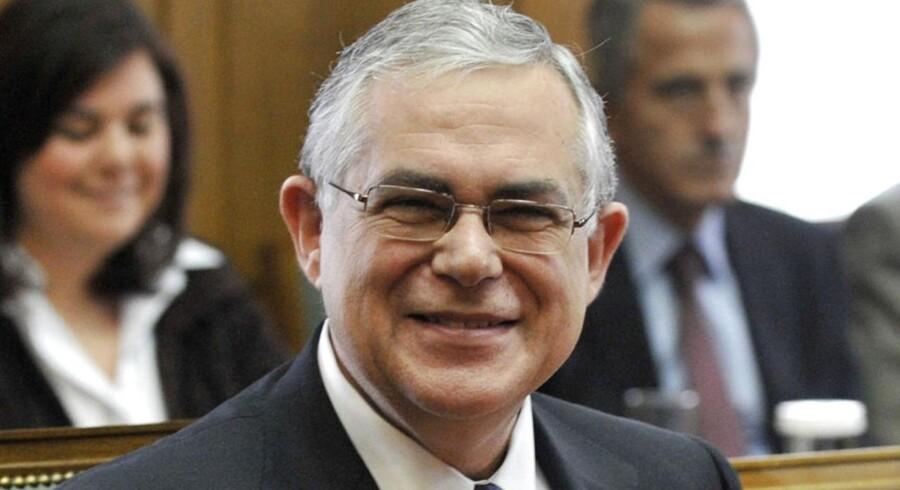 Grækenlands premierminister Lucas Papademos.