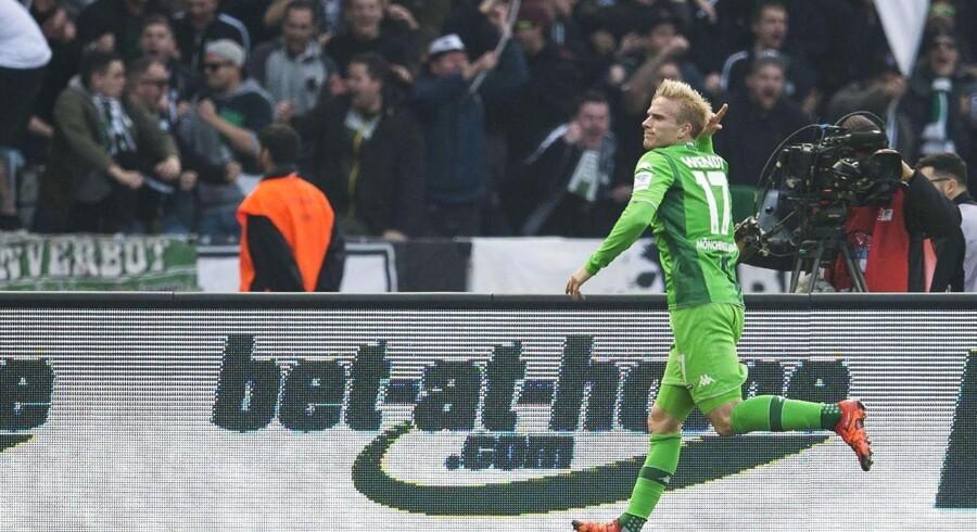 Den tidligere FCK-spiller Oscar Wendt åbnede scoringen, da Borussia Mönchengladbach vandt på udebane mod Hertha BSC Berlin.