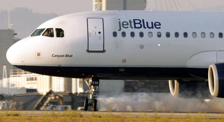 Arkivfoto af et fly fra selskabet JetBlue