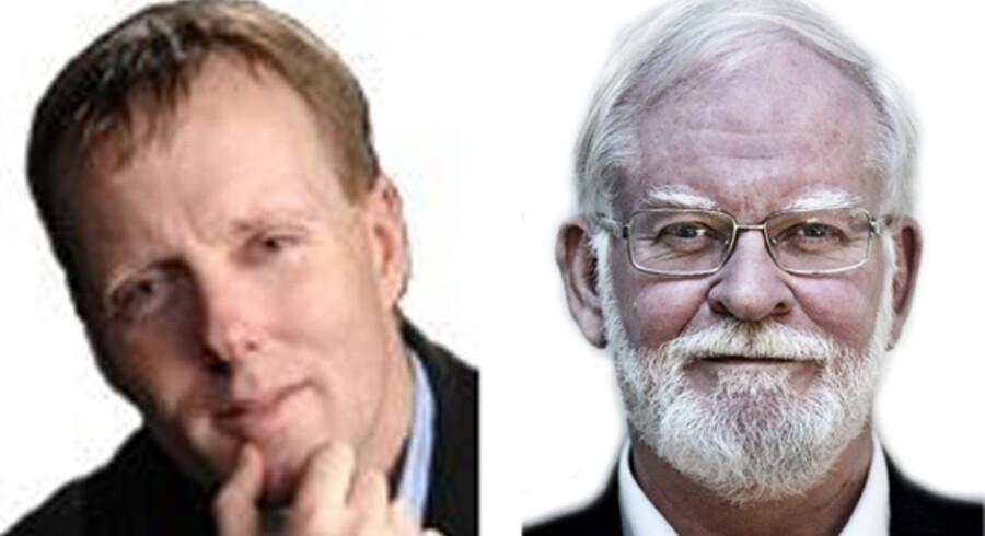 Dan Ritto og Lars Hedegaard Henholdsvis medarbejder på sappho.dk og formand for Trykkefrihedsselskabet