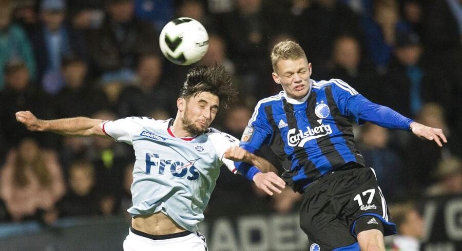 Kasper Kusk (th) føler sig igen flyvende efter en svær start i FCK.