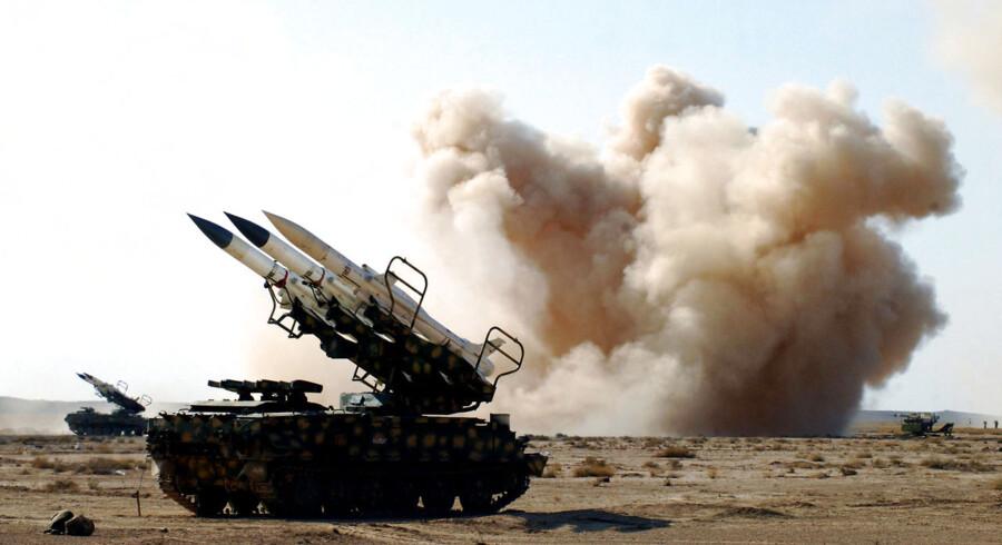 Et billede fra det officielle syriske nyhedsbureau viser noget af den syriske hærs hardware i aktion.