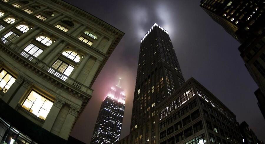 Her ses et af New Yorks mest kendte varetegn, Empire State Building.