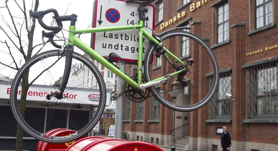 Utradtionel cykelparkering