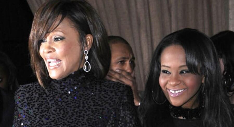 Whitney Houston sammen med sin datter Bobbi Christina i 2011.