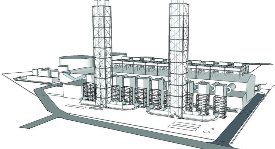 3-D tegning af det kommende kraftværk i Zouk