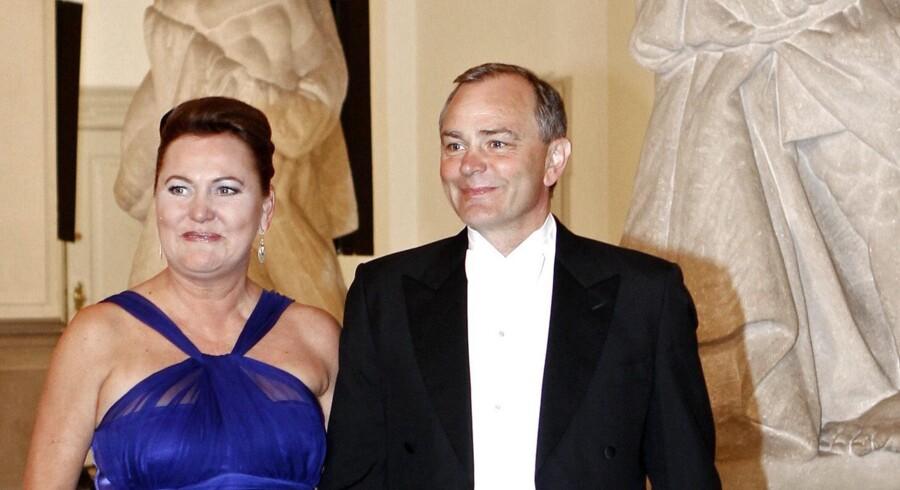 Jan Trøjborg sammen med Lone Blume på Christiansborg.