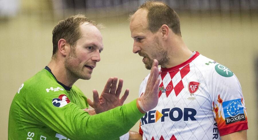 Kasper Hvidt, Lars Jørgensen og resten af KIF Kolding København-truppen har ikke levet op til tidligere års præstationer i Champions League.