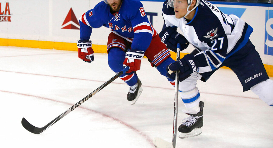 Venstre-wingen Nikolaj Ehlers er startet godt i sin klub Winnipeg Jets og scorede i nat sit første NHL-mål mod New York Rangers i 1-4 sejren.
