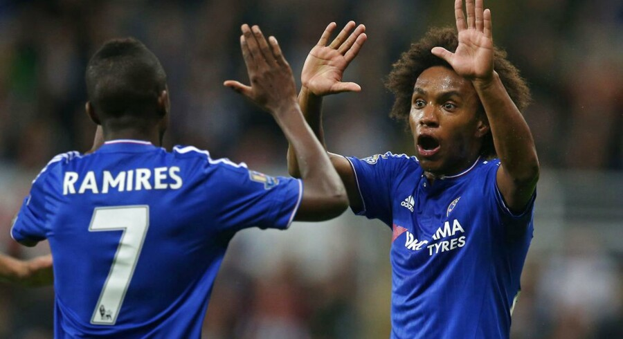 Willian og Ramires sikrede Chelsea et point.