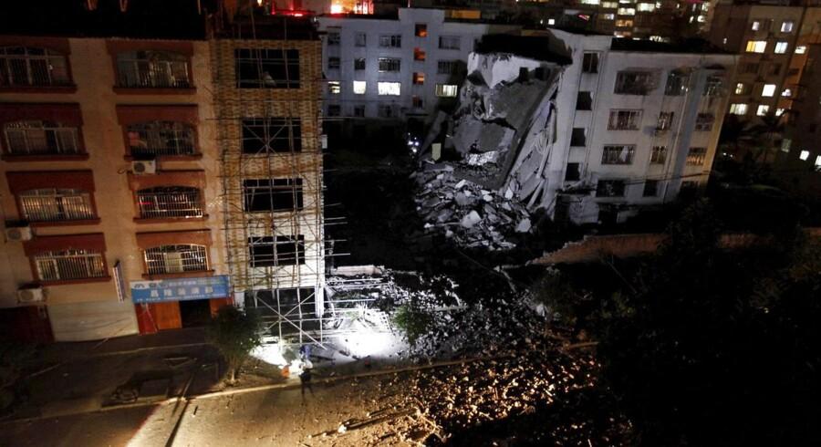Billeder af ødelæggelserne i Kina.
