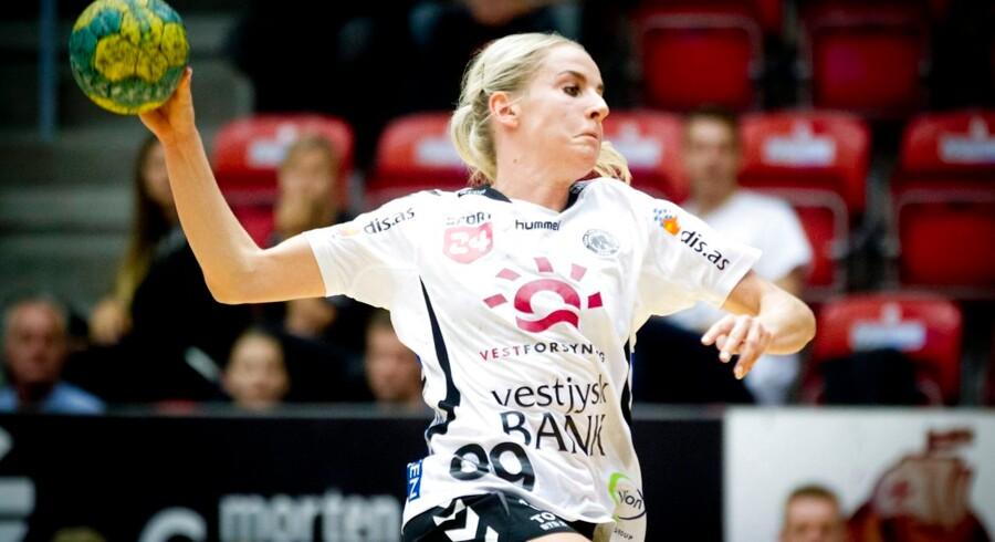 Onsdag d. 10. september. TTH's damer møder Skive i Gråkjær Arena. Lærke Møller, TTH.
