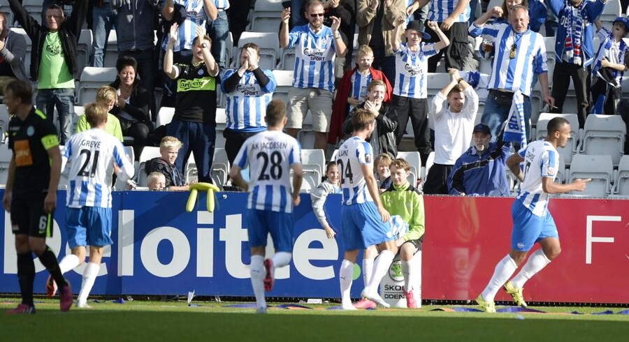 OB er her netop kommet foran 1-0 mod Viborg. Fynboerne vandt 2-0.