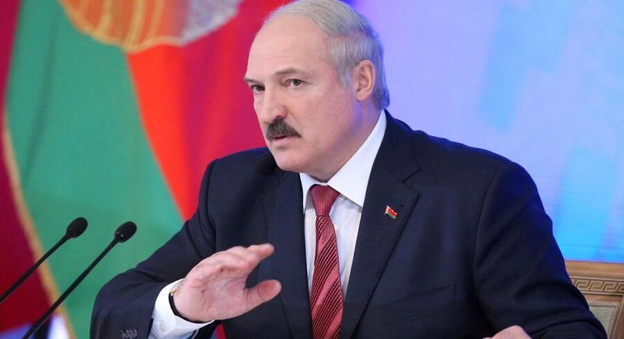 Den hviderussiske præsident Aleksander Lukasjenko.