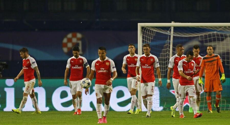 Arsenal skuffede fælt i nederlaget til Dinamo Zagreb.