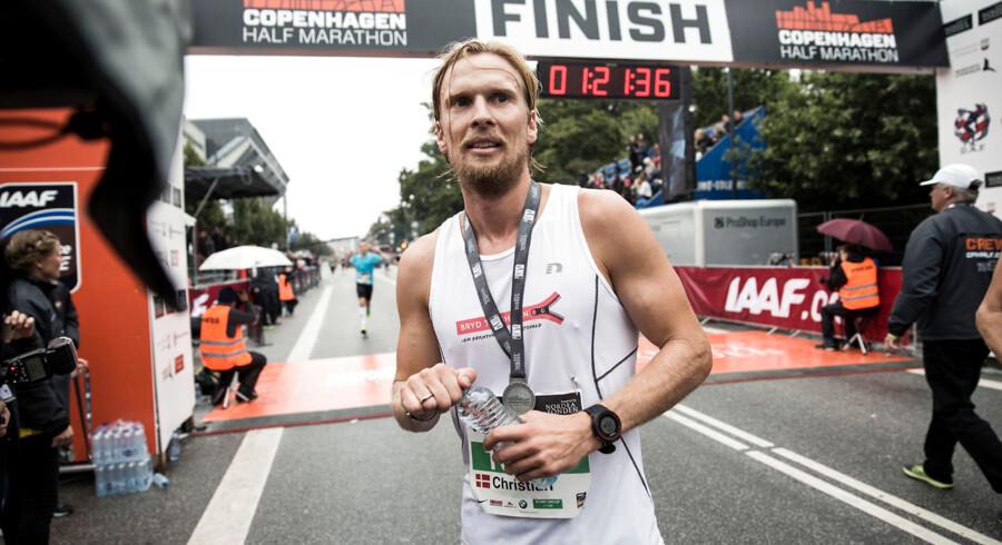 København lægger asfalt til Copenhagen Half Marathon 2015. Det første gadeløb, i verdensklasse, i Norden. Her ses Christian Poulsen