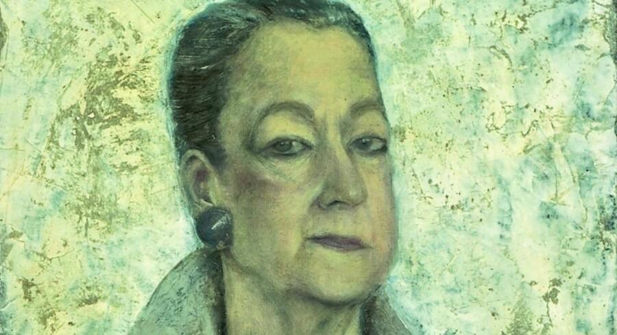 Pia Schutzmanns værker kan ses på Nivaagaard, her ses hendes maleri af fotograf Rigmor Mydtskov fra 1991. Maleriet tilhører Det Nationalhistoriske Museum Frederiksborg Slot.