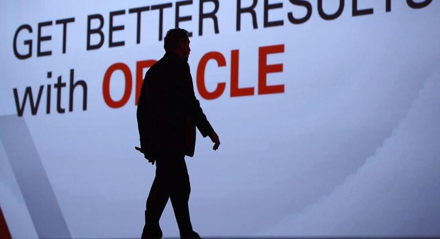 Oracles topchef, Larry Ellison, forventer igen, at hardwaresalget går op fra marts. Indtil da er han tilfreds med salget af netbaseret software. Arkivfoto: John B. Mabanglo, EPA/Scanpix