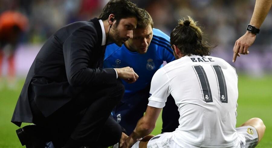 Gareth Bale blev skadet i Real Madrids kamp mod Shakhtar Donetsk.