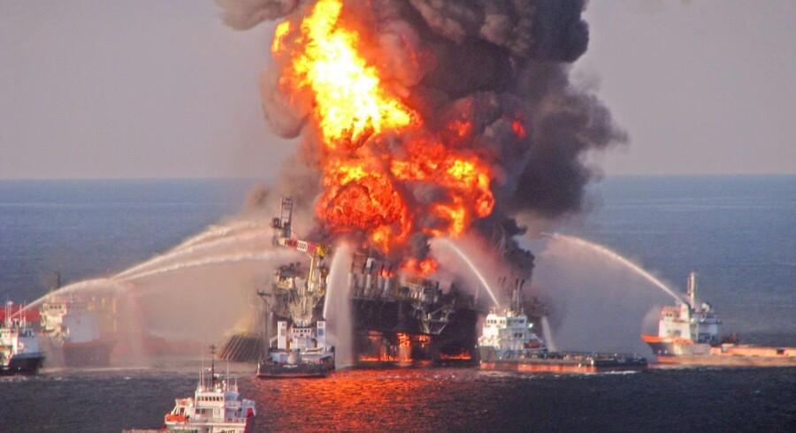 Olieudslippet fra Deepwater Horizon i 2010 stod på i lige under tre måneder.
