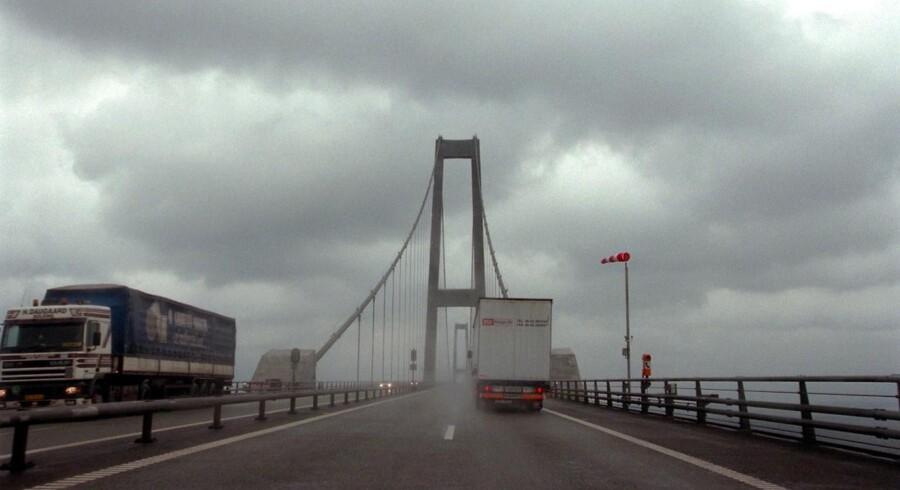 Pas på blæsten over Storebælt og Øresund.