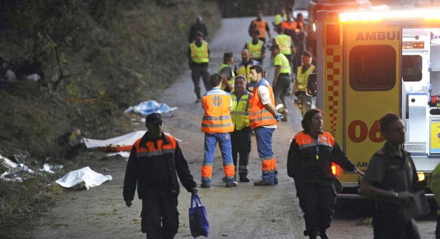 Tragisk ulykke i Spanien. Seks mennesker omkom, da en rallybil torpederede dem.