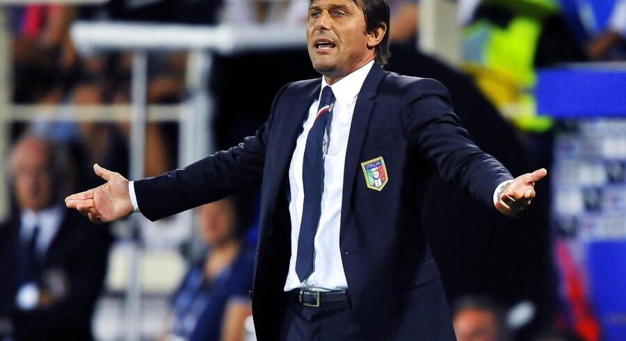 Italiens landstræner Antonio Conte var ikke tilfreds efter søndagens EM-kvalifikations-sejr over Bulgarien