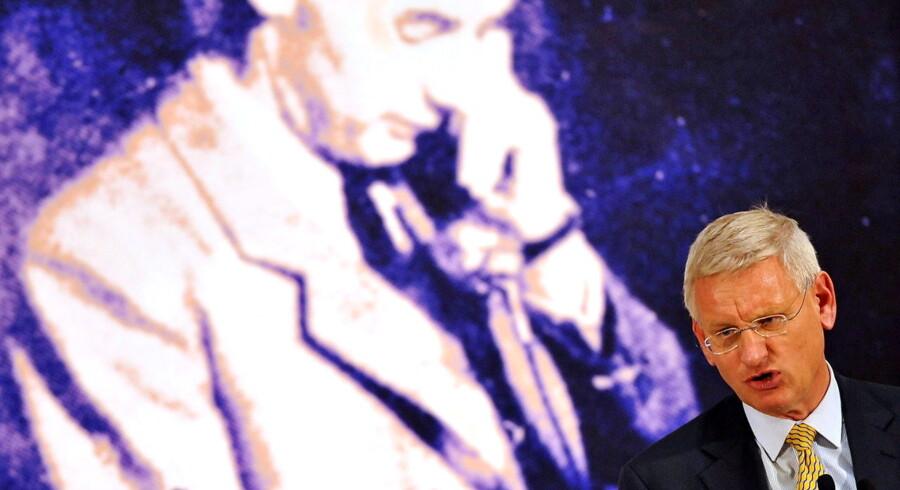 Raoul Wallenbergs indsats under krigen kan næppe overvurderes. Med livet som indsats forsøgte han at redde ungarske jøder ud af nazisterne kløer. Her taler Carl Bildt ved åbningen af en udstilling om Wallenberg