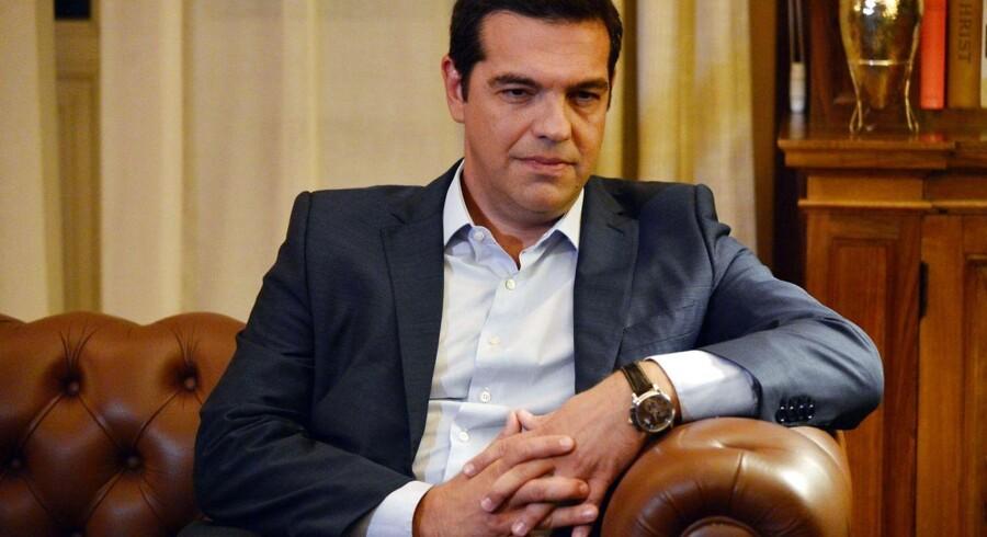 Alexis Tsipras meddelte torsdag, at han og hans regering træder tilbage. Foto: Louisa Gouliamaki/AFP