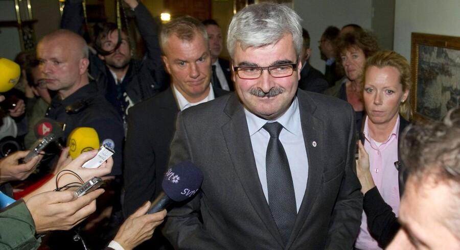 ARKIVFOTO. Formanden for de svenske Socialdemokraterna, Håkan Juholt, har lørdag eftermiddag meldt sin afgang som partiets leder på en pressekonference.
