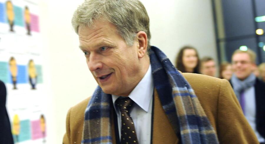 ARKIVFOTO. Sauli Niinistö står til at blive Finlands nye præsident.