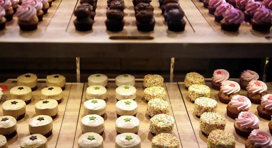 De pyntede cupcakes fra Agnes Cupcakes vil for fremtiden kunne købes i Sv. Michelsen som shop in shop.