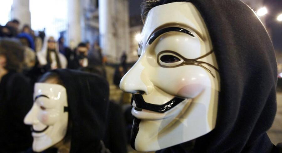 Gerningsmændene til et skyderi i Brabrand var iført Anonymous-masker. Arkivfoto.